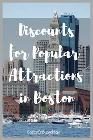 Boston Tourist Map Discounts For Boston Attractions Boston On Budget