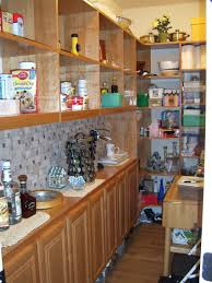 l shaped narrow kitchen pantry cabinet over laminate floor mixed
