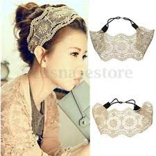retro headbands women s lace headband ebay