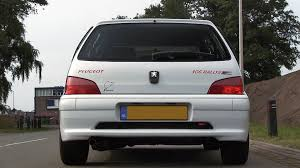 used peugeot 106 my peugeot 106 rallye with supersprint exhaust sound youtube