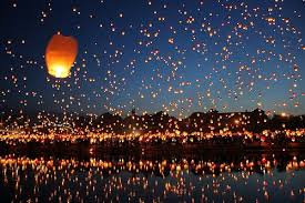 Festival Of Lights Thailand Floating Lantern Festival In Thailand Take Me There Pinterest
