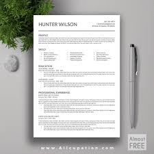 resume template professional templates microsoft word space