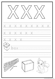 trace and write the lowercase letter x worksheet preschool crafts