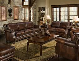 Traditional Leather Sofas Cognac Top Grain Leather Traditional Sofa W Optional Items