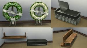Sims 4 Furniture Sets Mod The Sims Simcity 4 Funeral Chapel Items