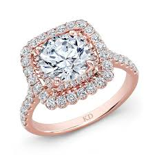 gold square rings images Rose gold square halo diamond engagement ring rings jewelry jpg