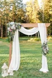 Wedding Arch Kl Rustic Wedding Arch This Timber Wedding Arch With Draping White