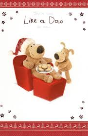 boofle like a dad to me christmas greeting card cards love kates