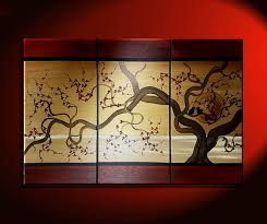 NathalieVan Acrylic Painting Love birds in Cherry Blossom