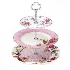 vintage cake stand roses 3 tier cake stand