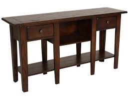 Oak Sofa Table Two Drawer Country Sofa Table In Oak Mathis Brothers Furniture