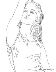 vanessa paradis french singer coloring pages hellokids com