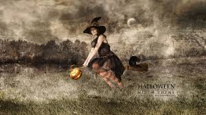 halloween background witch floating witch wallpaper background 27050