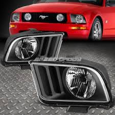 ebay mustang headlights for 05 09 ford mustang pony 2dr black housing headlights clear