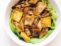 comment cuisiner du tofu mushrooms and tofu with mustard greens recipe serious eats