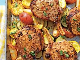 greek thanksgiving greek pork chops with squash and potatoes recipe myrecipes