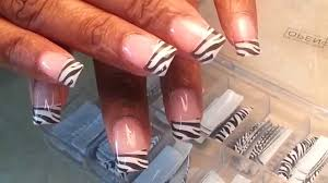 zebras acrylic nails tips designs youtube