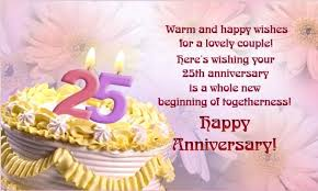 twenty fifth anniversary 25th anniversary wishes wishes greetings pictures wish