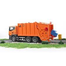 bruder scania r series orange toy garbage truck educational toys