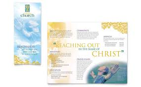 free church brochure templates for microsoft word 15 word tri fold