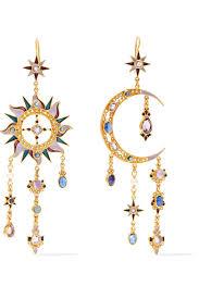 percossi papi earrings percossi papi 24 karat gold plated multi earrings net a