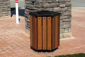 13 gallon trash can trash receptacles trash can container wooden