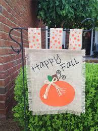 Fall Flags Yard Burlap Garden Flag Measurements Home Outdoor Decoration