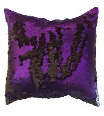 reversible sequin pillow cover mermaid throw pillow purple and