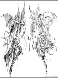 the 25 best good and evil tattoos ideas on pinterest angel and