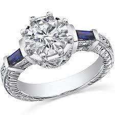 moissanite vintage engagement rings brilliant blue sapphire antique moissanite engagement ri