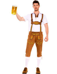 mens bavarian german lederhosen oktoberfest costume 8601