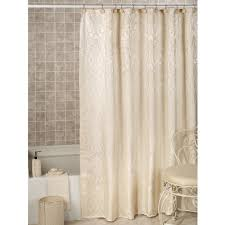 Heritage Lace Shower Curtains by Furla Cream Damask Shower Curtain With Liner Bathroom