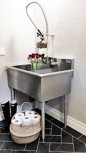 stainless steel laundry sink laundry room with stainless steel utility sink transitional