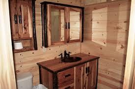 Log Vanity Hickory Log Vanity U2014 Barn Wood Furniture Rustic Barnwood And Log