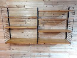 Wood Plank Shelves by Industrial Metal And Light Wooden Shelving Unit 1955 For Sale At