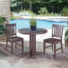 Outdoor Moroccan Furniture by Morocco 3pc Round Table Dining Set Rc Willey Furniture Store