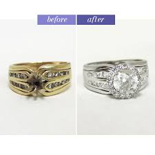 wedding rings redesigned update the look of your engagement ring with a rhodium dip and new
