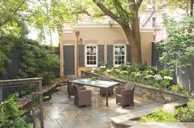 Townhouse Backyard Ideas Houzz Backyards Affordable Furniture Back Yards Ideas Delightful