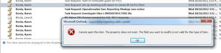 property does not exist in outlook 2010 task