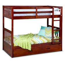 loft bunk beds american signature furniture ranger twin over twin bunk bed with trundle merlot