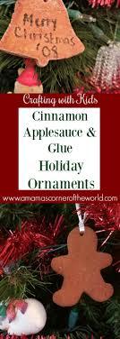 craft idea cinnamon ornaments with glue applesauce craft