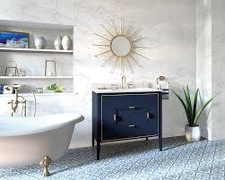 navy vanity ronbow vanities showcase high end materials