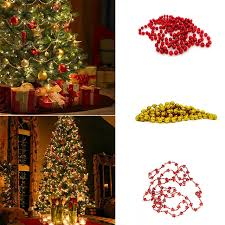 Decorate Christmas Tree Garland Beads aliexpress com buy christmas tree bead chain decorative present