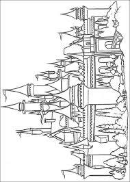 coloriage chateau à imprimer