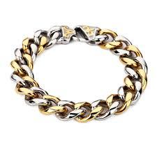 aliexpress buy nyuk new fashion american style gold nyuk new fashion stainless steel charm bracelet men vintage embossed