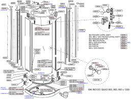 Daryl Shower Doors Daryl Indigo 696 Quadrant Door Shower Spares And Parts National