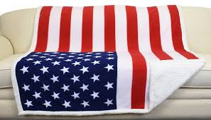 Blue Flag White X Catalonia Fleece Tv Blanket National Flag Print Patriotic Plush