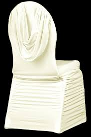 Spandex Banquet Chair Covers Swag Back Ruched Spandex Banquet Chair Cover Ivory Cv Linens