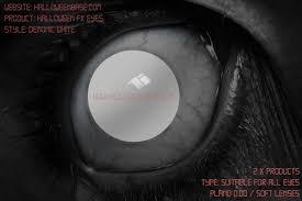 white blind halloween contact lenses