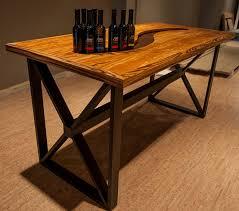 wood display wood olive display table